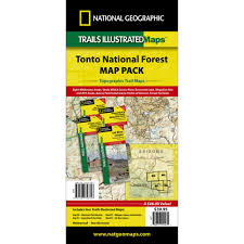 grand national park map tonto national forest trail maps map pack bundle national