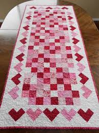 valentines day table runner calicos in bloom s day table runner hotpads