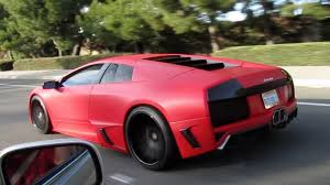 lamborghini custom paint job matte red premier4509 lamborghini murcielago on the road youtube
