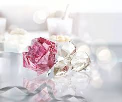 Party Glasses Swarovski Crystal by Swarovski Blossoming Rose Light Rose