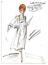 lot detail edith head sketch of lucille ball u0027s costume from