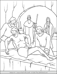 jesus the good shepherd coloring pages stations of the cross coloring pages 14 jesus is laid in the
