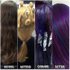 hair color 201 cosmic purple and blue pinwheel hair color