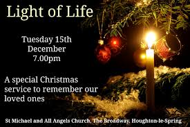 light of service 15th december remembering loved ones at