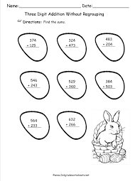 Subtraction Free Worksheets Easter Worksheets And Printouts