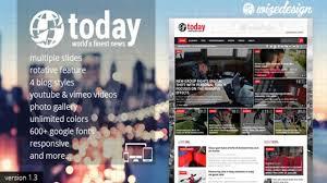 today news u0026 magazine wordpress theme youtube