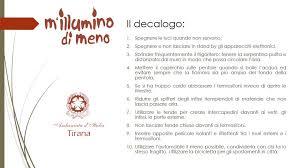 decalogo m illumino di meno l ambasciata d italia aderisce all iniziativa m illumino di meno