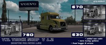 volvo vnl 780 blue truck farming simulator 2017 2015 15 17 volvo vnl truck shop v1 2 1 6 x download game mods ets 2 ats