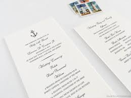 nautical wedding programs nautical anchors aweigh letterpress wedding program sle