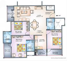 3 Bhk Apartment Floor Plan by Ittina Abby Lbs Nagar Bangalore Residential Project