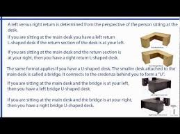 L Shaped Desk With Left Return Left Return Or Right Return Left Bridge Or Right Bridge What Do