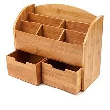 Bamboo Desk Organizer Mind Reader 6 Compartment Bamboo Desk Organizer 8562211 Hsn