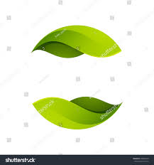 White Flag With Green Leaves Green Leaves Icon Vector Ecology Sphere Stock Vector 470003219