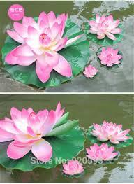 2017 swmming pool 18cm eva flowers artificial silk real look lotus