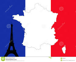 French Map France Map Flag And Navigation Labels Illustration Stock