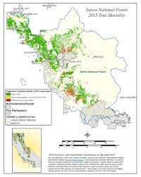 Sierra Nevada Mountains Map Maps California Drought Effects On Sierra Trees