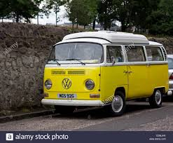 volkswagen yellow volkswagen camper van yellow and white stock photo royalty free