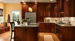 what color wood floor looks with cherry cabinets 4 unique ways to use cherry cabinets in your kitchen kraftmaid