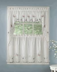 Lorraine Curtains Kitchen Tier Curtains Monarch Embroidered Kitchen Curtains By