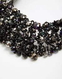 black beaded collar necklace images Lyst aldo roccoa statement collar necklace in black jpeg