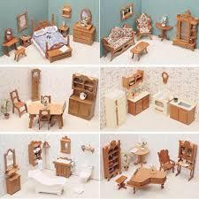 greenleaf dollhouse furniture 5 room kits dining bed kitchen