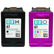 hp hp 61 cr259fn 2 pack black tri color original ink cartridges
