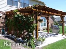 How To Build A Pergola Roof by How To Build A Pergola Family Handyman