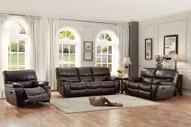 Living Rooms With Dark Brown Sofas Homelegance Pecos Reclining Sofa Set Leather Gel Match Dark