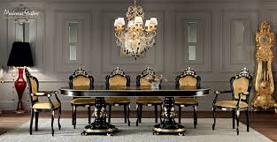 Gold Dining Room by Dining Room With Extendable Inlaid Table Dining Room Villa