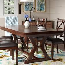 wooden dining room tables large dining table seats 14 wayfair