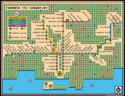 metro york map mario 8 bit meets ttc subway map toronto