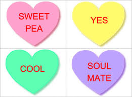 conversation hearts free s day editable conversation heart flashcards by