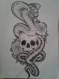 skull and snake designs 1000 images about on