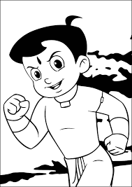 chhota bheem coloring pages wecoloringpage