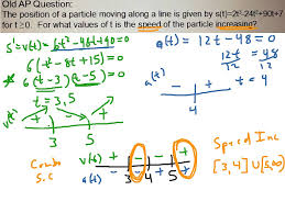 ap calc position velocity acceleration u0026 speed relationships