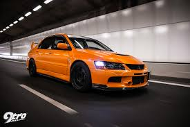 mitsubishi evolution 9 subaru wrx sti u0026 mitsubishi evolution 9 the orange revolution 9tro