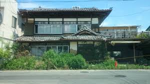 abandoned homes in the radioactive exclusion zone near fukushima