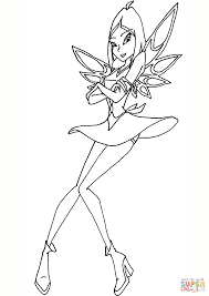 winx club amaryl coloring free printable coloring pages