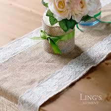 Vintage Wedding Centerpieces For Sale by Sale Table Runner Vintage Rustic Hessian Burlap Lace Decor