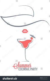 cocktail summer party logo menu background stock vector 640601905