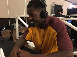 arizona state rb kalen ballage u2013 2017 pac 12 football media days