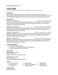 Sample Resume For Customer Service With No Experience by Resume Resume Template Free Fill In The Blank Resume Templates