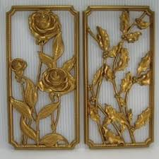 home interior wall hangings vintage gold syroco wall hanging retro home decor home vintage