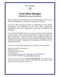 100 cover letter for front office receptionist medical front