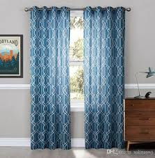 Geometric Pattern Curtains Fashion Grommet Top Sheer Curtains Print Sheer Curtains Geometric