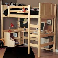 White Wood Loft Bed With Desk by Bunk Beds Costco