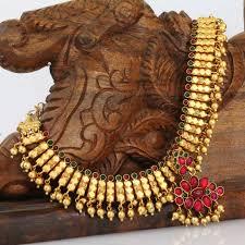 Buy Kasu Mala Lakshmi Ji Temple Jewellery Necklaces U0026 Necklace Sets Temple Jewellery Gold