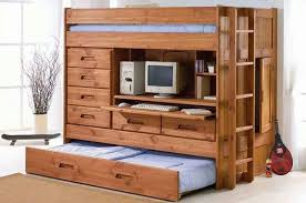 wooden loft bunk bed with desk appealing bunk bed with trundle and desk 5 517lcw6qfil sx260