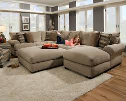 Fabric Sectional Sofa Furniture Comfortable Deep Seat Sectional For Your Living Room