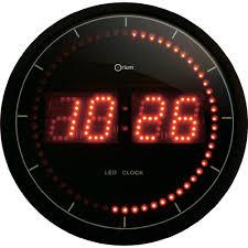 Horloge Murale Rouge by Horloge Murale Orium 11454 Noir Mat 30 Cm X 30 Cm X 4 5 Cm